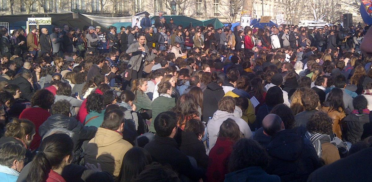 Assemblée générale Nuit Debout - Place de la République à Paris